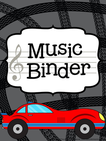 Music Teacher Binder – Racing Theme