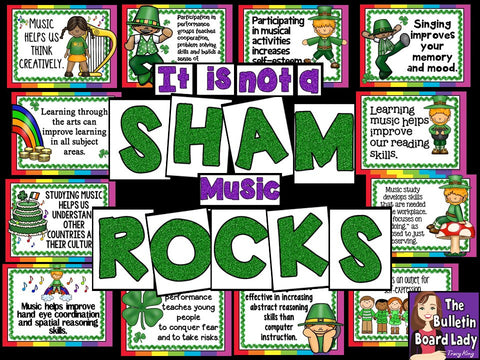 It is not a SHAM. Music ROCKS! Bulletin Board