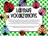 Vocal Exploration/Singing Visual Aids: Ladybugs