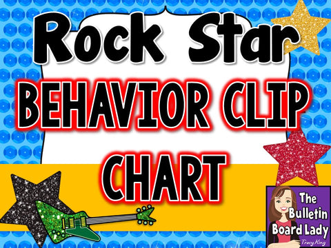 Behavior Clip Chart - Rock Star Theme