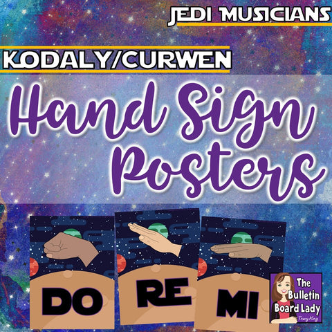 Kodaly Curwen Hand Signs Space Theme