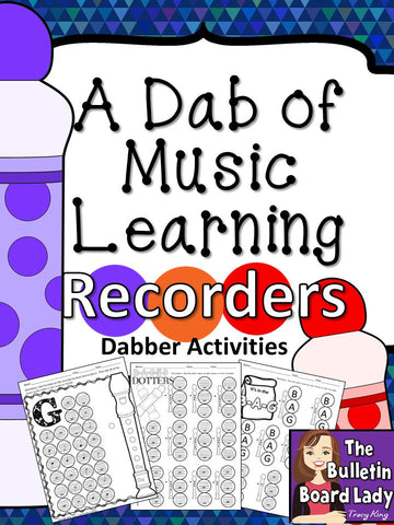 Dabber Activities for Music Class – Recorders