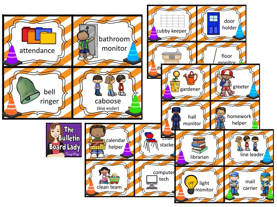 Classroom Jobs Construction Theme The Bulletin Board Lady