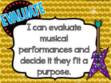National Music Education Standards – Rock Star Theme