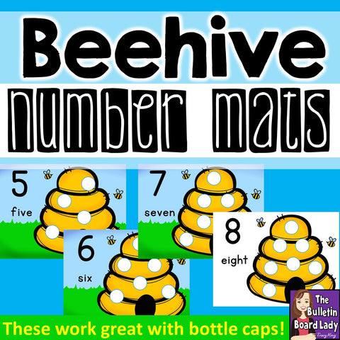 Beehive Number Mats