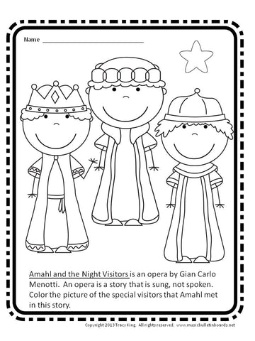 Amahl and the Night Visitors Viewing Guide and Activity