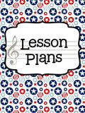 Music Teacher Binder - Red White and Blue
