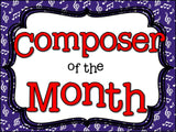 Composer of the Month George Gershwin-Bulletin Board and Writing Activities