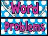 Cultivating Cues for Word Problems - Math Bulletin Board