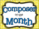 Composer of the Month Benjamin Britten-Bulletin Board and Writing Projects