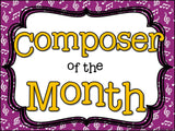 Composer of the Month Leroy Anderson-Bulletin Board and Writing Activities