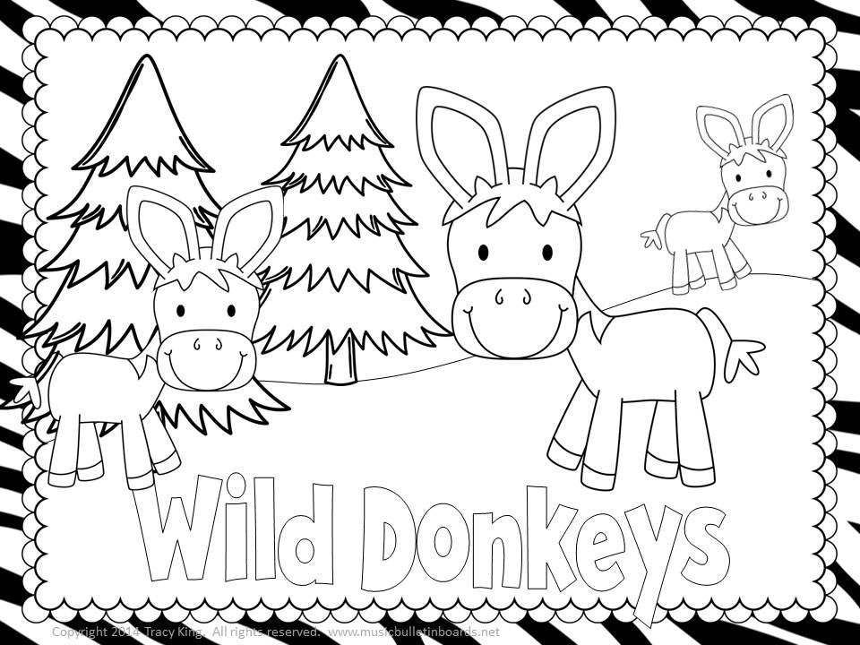 Carnival Of The Animals Coloring Book The Bulletin Board Lady