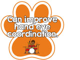 Positive Effects of Music Bulletin Board Paw Print Theme