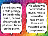 Composer of the Month Saint-Saens -Bulletin Board and Writing Activities
