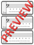 Exit Tickets for Music Class-BASS CLEF PITCHES
