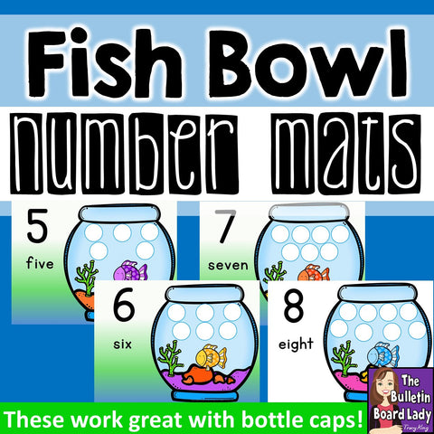 Fish Bowl Number Mats