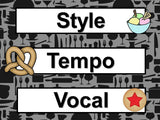 Music Word Wall - Cooking Theme