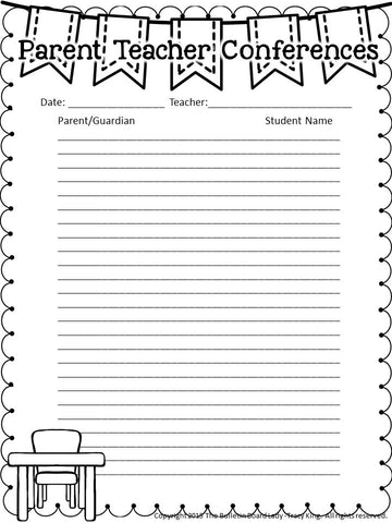 Parent Teacher Conferences Sign In Sheets – The Bulletin Board Lady
