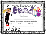 Music Certificates for End of the Year