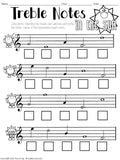 No Prep Music Worksheets for Summer