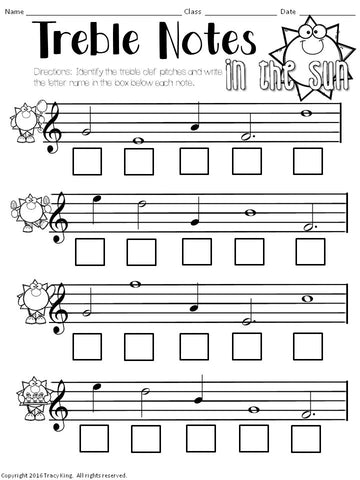 No Prep Music Worksheets For Summer The Bulletin Board Lady