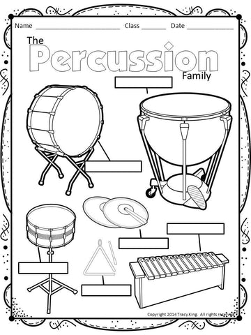 percussion instruments coloring pages - photo#36