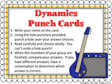 Dynamics Punch Cards