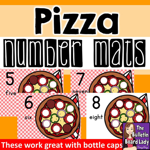 Pizza Number Mats