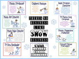 Snow Business Careers in Music Bulletin Board Kit