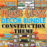 Music Decor BUNDLE - Construction Theme