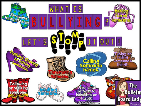 Let's Stomp Out Bullying Bulletin Board