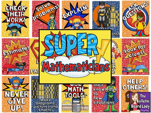 Super Mathematicians Math Bulletin Board