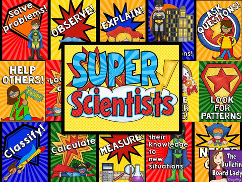 Super Scientists Bulletin Board