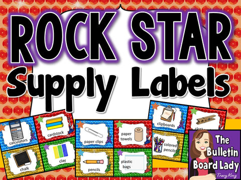 Supply Labels - Rock Star Theme
