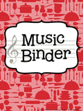 Music Teacher Binder – Cooking Theme