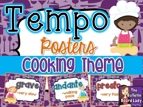 Tempo Posters - Cooking Theme