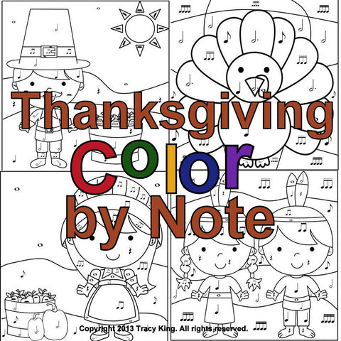 Thanksgiving Color by Note