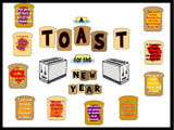 A Toast for the New Year Bulletin Board