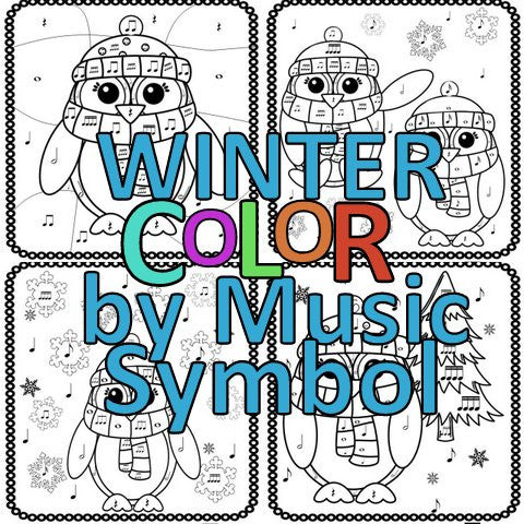Winter Color by Note – The Bulletin Board Lady