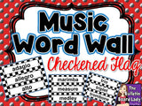 Music Word Wall - Checkered Flag