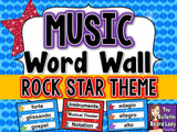 Music Word Wall Set – Rock Star Theme