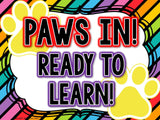 Behavior Chart Paw Prints Theme