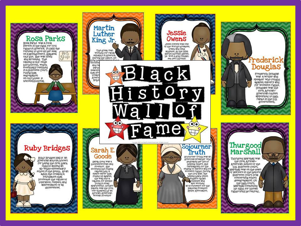 Black History Wall Of Fame Bulletin Board The Bulletin