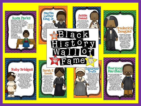 Black History Wall of Fame Bulletin Board
