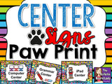 Center Signs - Paw Print Themes