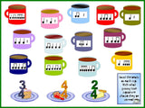 Counting Cups Music Rhythms Bulletin Board Kit