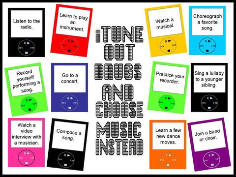 iTune Out Drugs and Choose Music Instead