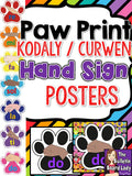 Music Symbol Posters - Paw Print Theme