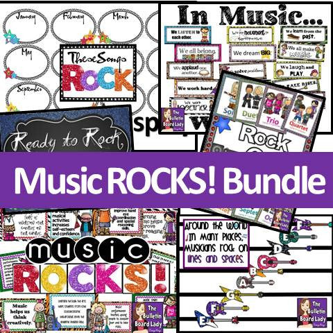 Music ROCKS Decor BUNDLE