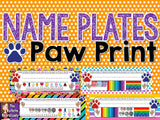 Name Plates - Paw Prints Theme